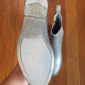 Glitter Chelsea Rain Boots From J Crew